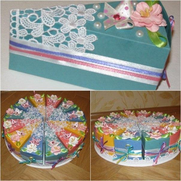 Как сделать подарок торт с пожеланиями