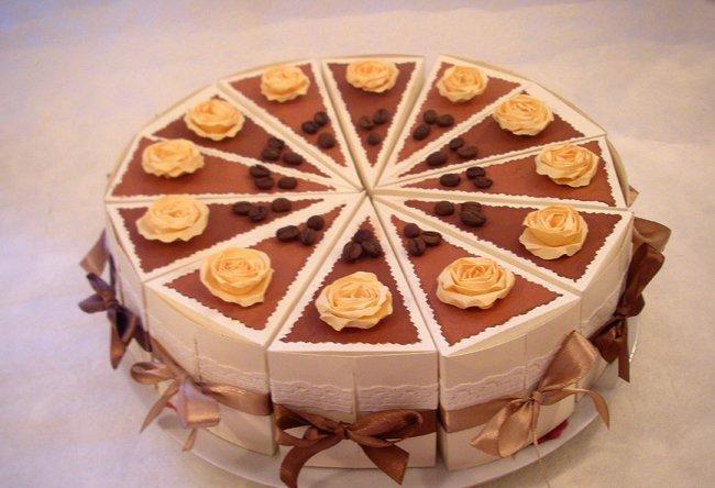 Как сделать свадебный торт из картона